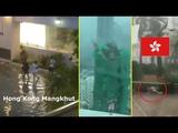 Typhoon Mangkhut hits Hong Kong, China Macua | Mini Tsunami - 16/09/2018 (Compilation)