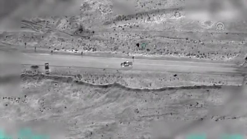 БПЛА ВВС Турции нанес несколько ударов по автомобилю лидера РПК в Синджаре (Ирак) Исмаила Оздена, разыскиваемого турецкими спецс
