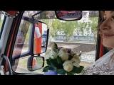 Свадьба дальнобойщика В ЗАГС на тягачах Кортеж из грузовиков Вид изнутри кабины большегруза Стерлитамак 31 августа 2018 года