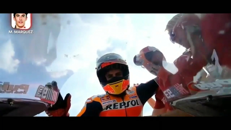 Chang Buriram MotoGP- Marc Marquez vs Andrea Dovizioso onboard camera ThaiGP