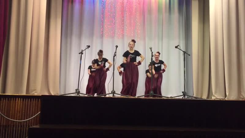 Группа «Девчата» с танцем «Фламенко»