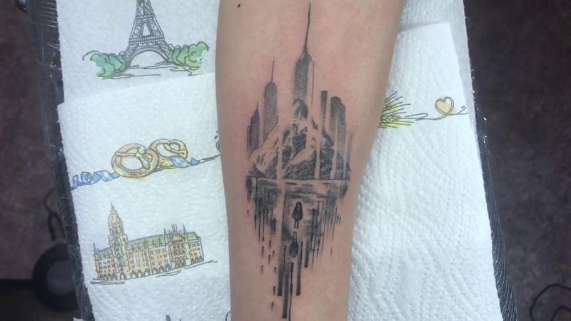 Tattoo Graphic | Whip Shading | Traveler - Тату в графике | Випшейдинг | Путешественник