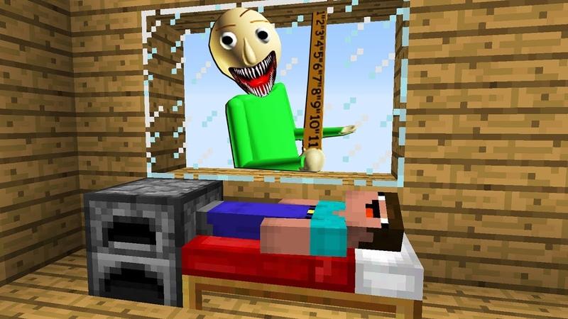 НУБ ЗАТРОЛЛЕН Балди в Майнкрафт Нубик играет minecraft троллинг нуба Мультик для детей