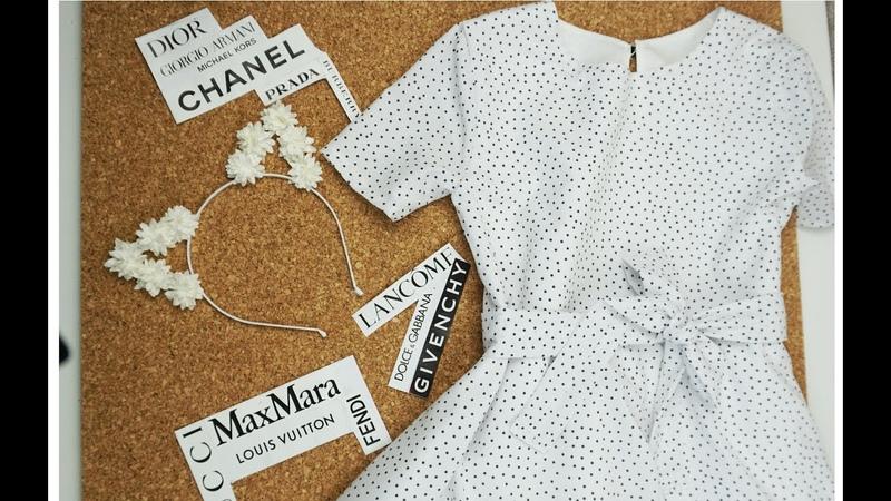 Шей с Happinazz Детское платье на подкладе