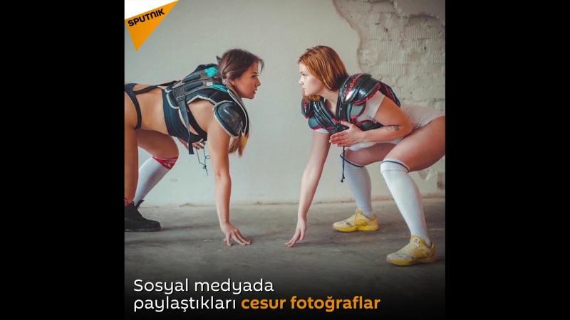 Rus Amerikan futbolu kadın oyuncuları cesur fotoğraflarıyla sosyal medyayı karıştırdı