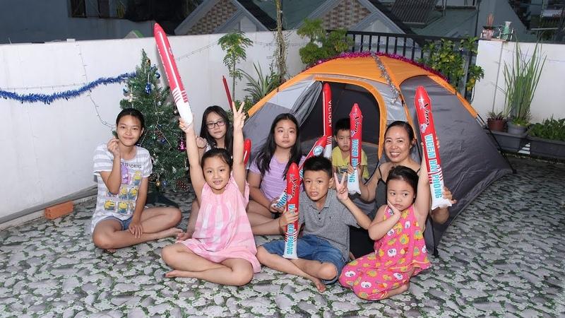 Cắm trại đón Noel cùng bọn nhỏ trên sân thượng