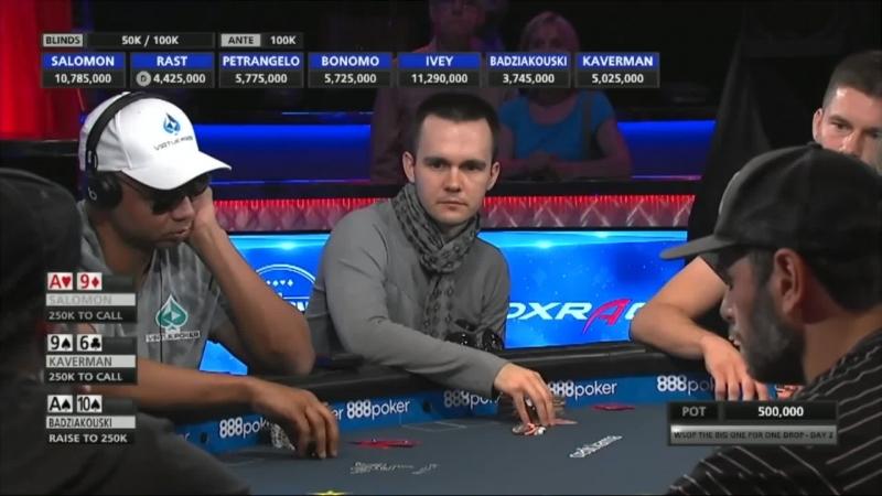 WSOP 2018 $1M BIG ONE FOR ONE DROP | Турнир с бай-ином в $1 000 000