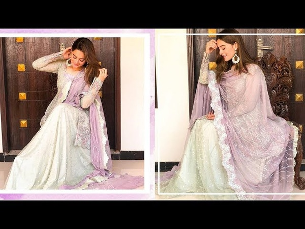Aiman Khan Looking Extra Gorgeous Like Diva In Beautiful Purple Dress By Zanib At A Home Party
