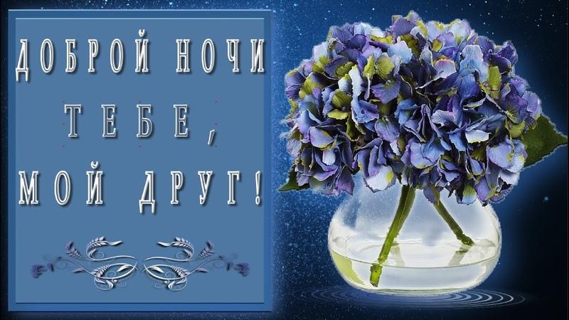 🎶💗🌙Доброй ночи тебе, мой друг🎶💗🌙4K*Самое красивое пожелание Доброй ночи