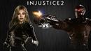 Injustice 2 - Чёрная Канарейка против Дэдшота - Intros Clashes rus