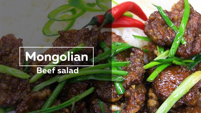 Mongolian beef salad