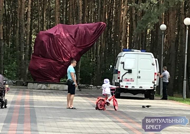 В Бресте неизвестные подожгли венки в парке Воинов-интернационалистов