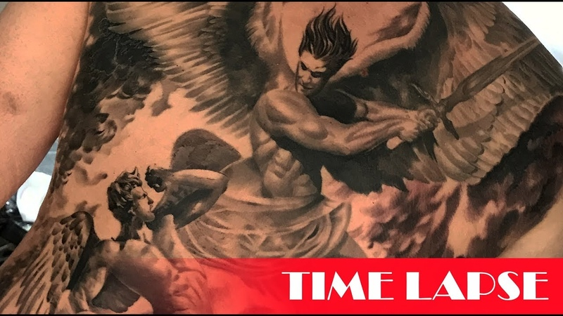 Heaven battle - Tattoo time lapse