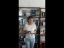 Жастар таңдайды - Молодежь предпочитает атты жобасына қатысушы Талғатқызы Ғазиза жастарды кітап оқуға шақырады