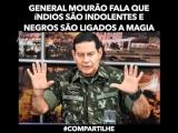 General Mourão fala que índios são indolentes e negros são ligados a magia