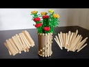 Best out of Waste From Ice Cream Stick | Waste ice cream stick craft | Flower Vase
