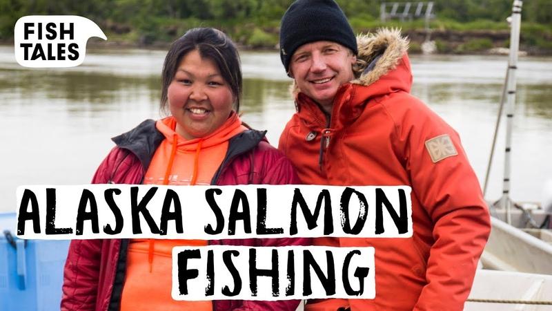 Fishing WILD ALASKA SALMON on the Yukon River