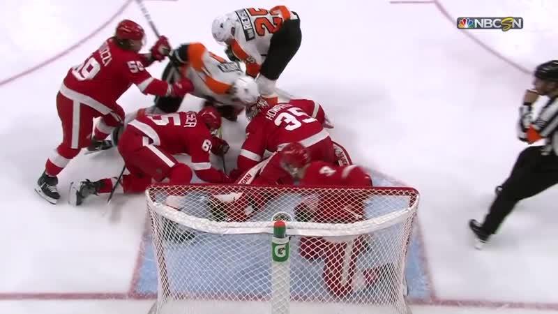 Philadelphia Flyers vs Detroit Red Wings - Feb 17, 2019 - Game Highlights - NHL 2018-19 - НХЛ