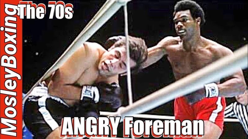 Young George FOREMAN BRUTAL KNOCKOUT Golden Era Of Boxing