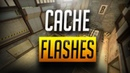 CSGO - BEST SELF POP FLASHES ON CACHE NEW 2018