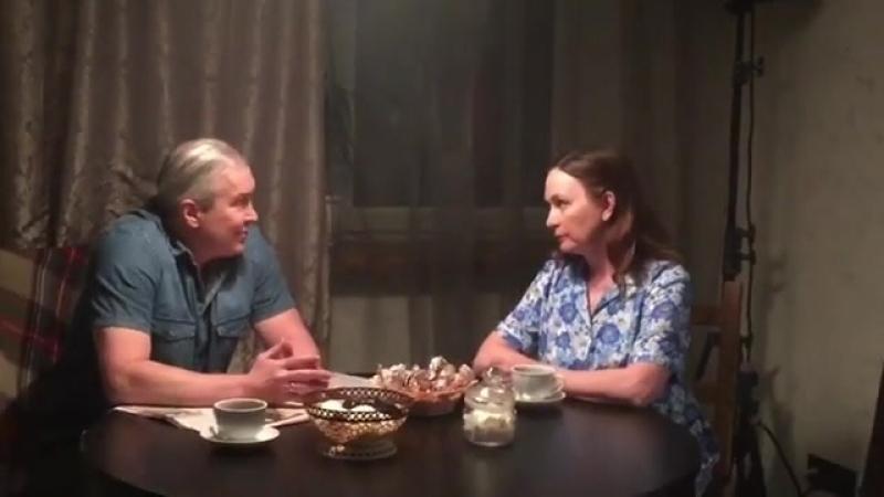 Бэкстэйдж со съёмки сериала Чёрная лестница Роль мать Саши.