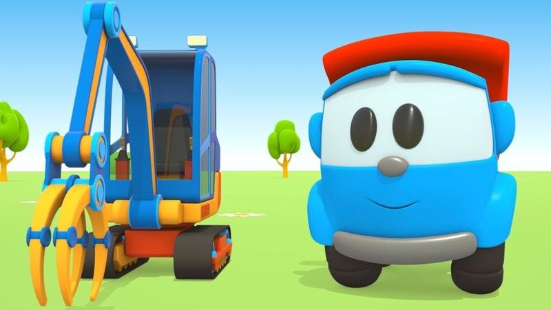 Leo il camion curioso e la gru posa-tubi | Cartoni animati
