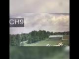 Момент падения самолета в Кировской области