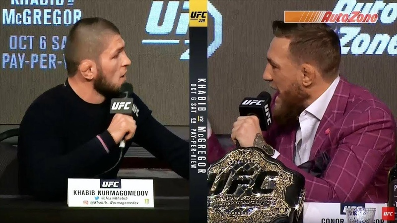 Conor McGregor Khabib ABSOLUTELY TRASH EACH OTHER AT UFC 229 PRESS CONFERENCE