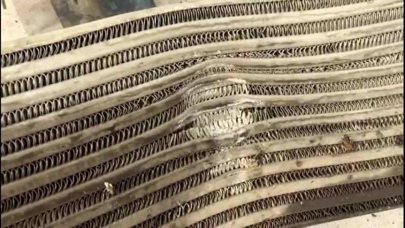 Радиатор интеркулера на Freelander 2