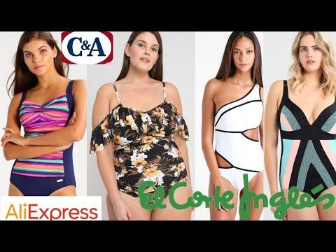 Bikinis y bañadores en todas las tallas de Aliexpress Y C&A para el verano 2018.