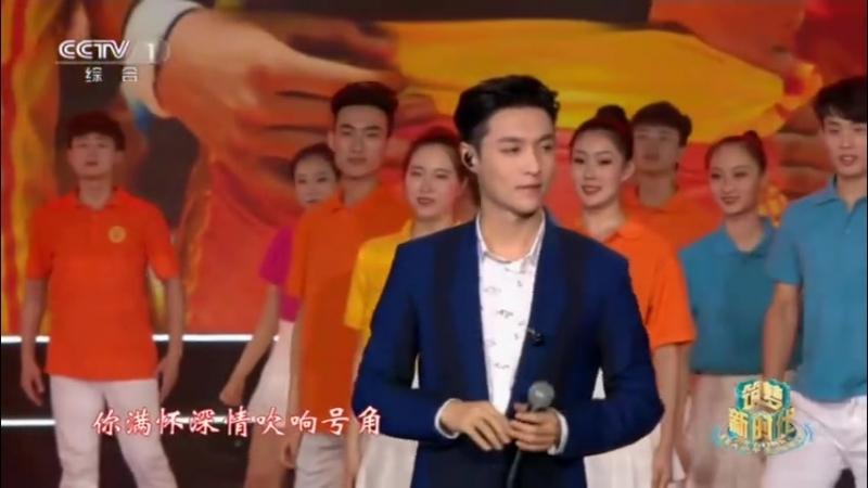 [CUT] 180504 CCTV's Youth Day Gala @ Lay (Zhang Yixing) — 红旗飘飘 (Futtering Red Flag)