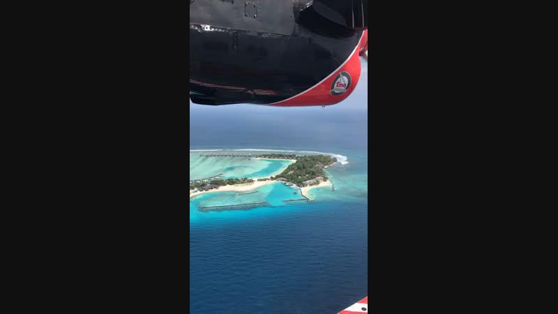 Мальдивы, полет на гидросамолёте