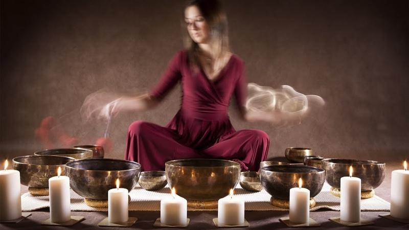 Tibetan Healing Sounds┇Singing Bowls @ 528Hz Fire Sounds