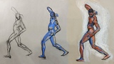 Beginner Gesture Drawing (3 of 3) - Movement in a Longer Pose