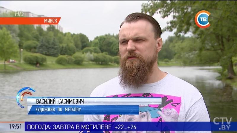 В память о погибших в Кемерово белорусские мастера выковали железные вишни