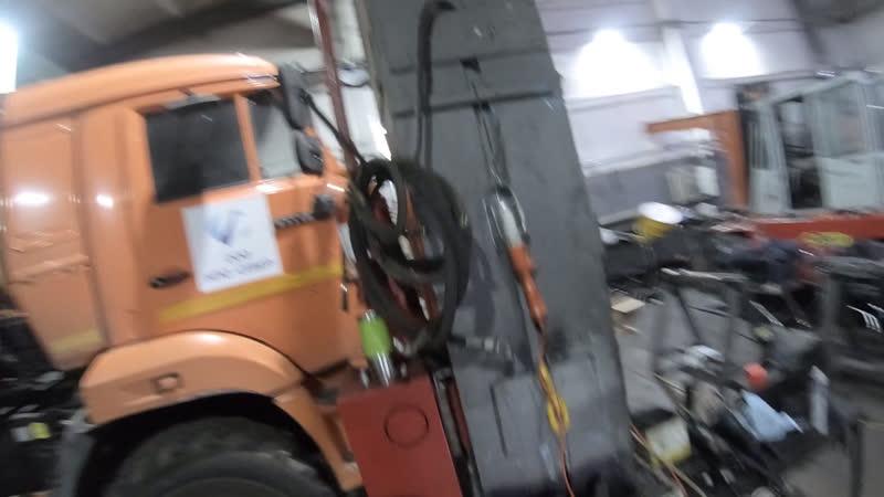 Кран-манипулятор КАМАЗ с КМУ PALFINGER INMAN IT150, меняем все РВД на морозостойкие, готовим тачку к северу
