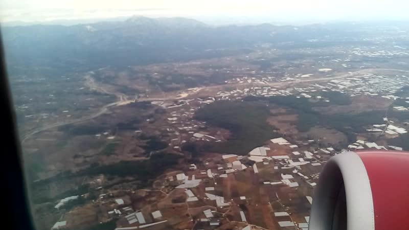 Взлет Boeing 737 аэропорт Antaliya