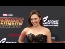 "Elizabeth Olsen ""Avengers- Infinity War"" World Premiere Purple Carpet"