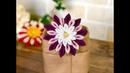 100均材料だけで つまみ細工 kanzashi flower fabric flower DIY 成人式 七五三髪飾り作り方