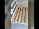 Кровать двухъярусная с разными спальными местами