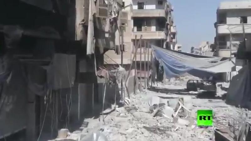 Ракка сегодня, после Бомбардировки Коалиции, видно что в городе не каких востановительных работ не идёт. Сирия САА Россия