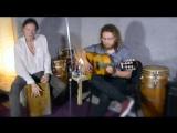 Алексей Стародубцев и Сергей Коняев (испанская гитара и кахон)