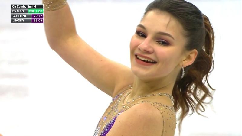 Софья Самодурова - произвольная программа на Чемпионате Европы 2019. 25.01.2019