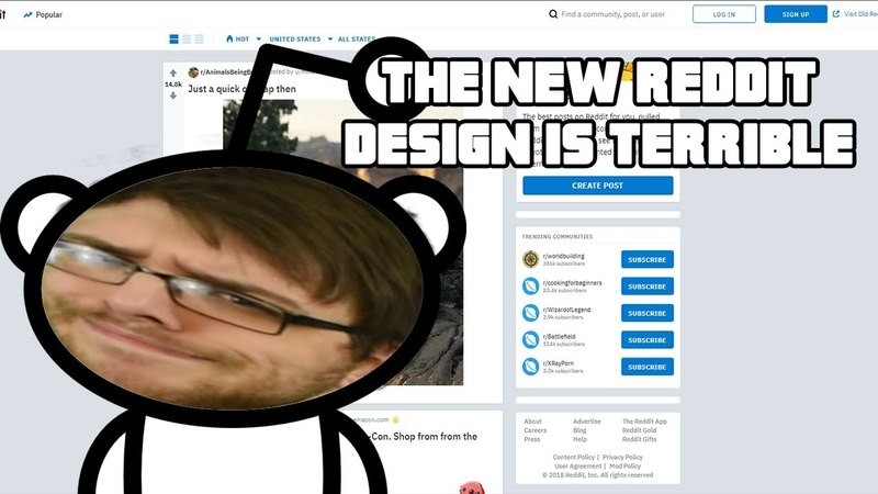 The New reddit Design Is Terrible