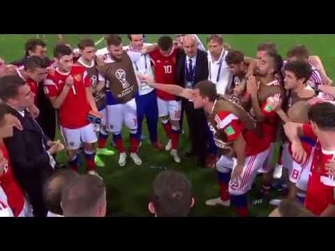 Артём Дзюба заводит команду перед серией пенальти