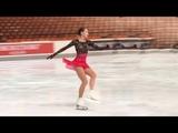 Alina Zagitova Free practice Nebelhorn Trophy 2018 9 28