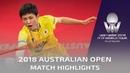 Zhou Yu vs Harimoto Tomokazu   2018 Australian Open Highlights (1/4)