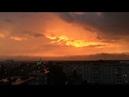 Красивое небо на закате. Таймлапс