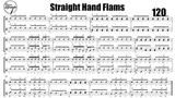 Straight Hand Flams Snare and Tenors