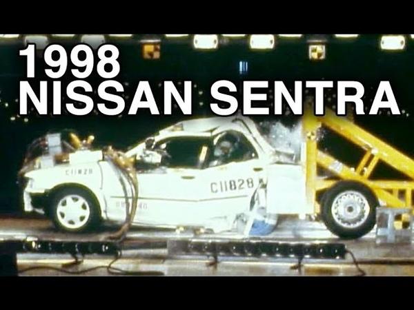 1998 Nissan Sentra Rear Crash Test 70% Overlap by NHTSA CrashNet1